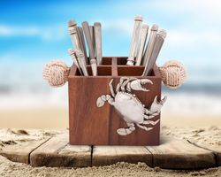 Crab Flatware Caddy