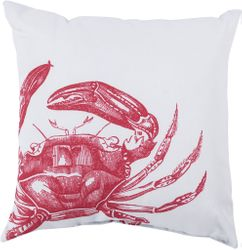 Crab Outdoor Pillow in Red