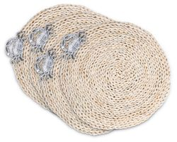 Crab Twisted Seagrass Placemats - Set of 4