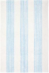 Cruise Stripe Blue Woven Cotton Rug<font color=a8bb35> NEW</font>