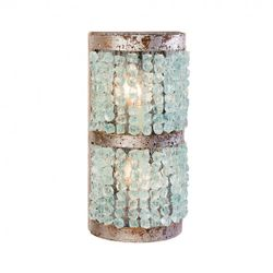 Crystal Half Round Sconce