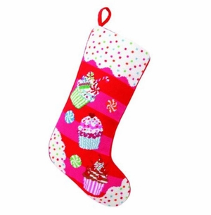 Cupcake Love Christmas Stocking<font color =a8bb35> Sold out</font>