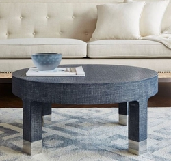 Dakota Round Coffee Table Navy in 2 Sizes