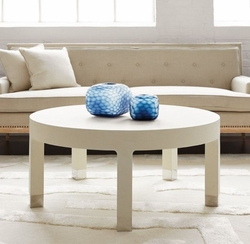 Dakota Round Coffee Table White in 2 Sizes