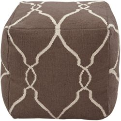 Dark Chocolate Wool Pouf