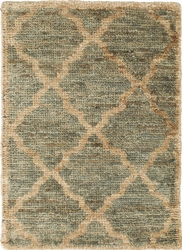 Casablanca Blue/Green Hand Knotted Jute Rug