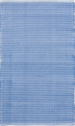 Herringbone French Blue Indoor/Outdoor Rug