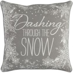 Dashing Pillow in Gray and White *NEW
