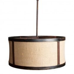 Dawhoo Large Burlap Drum Light