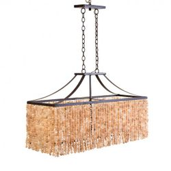 Deep Crystal Elongated Box Chandelier