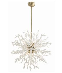 Diallo Large White 8-Light Chandelier