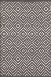 Diamond Graphite/Ivory Indoor/Outdoor Rug