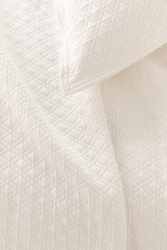 Diamond Matelasse Sham in Ivory