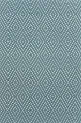 Diamond Slate and Light Blue Indoor/Outdoor Rug