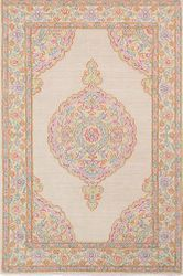Diwali Burnt Orange-Hand Tufted Rug <font color=a8bb35> NEW</font>