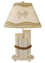Dock Pilings Lamp w/ Crab Shade