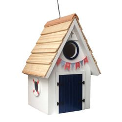 Dockside Cabin Birdhouse - White
