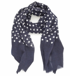 Navy Dots Beach Scarf