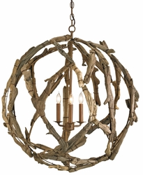 Driftwood Orb Chandelier *Low Stock