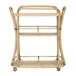 Edith Bar Cart in Natural <font color=a8bb35>NEW</font>