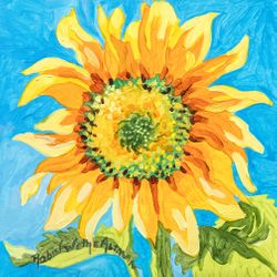 Einstein Sunflower Beach Print *NEW
