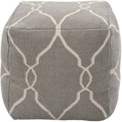 Elephant Gray Wool Pouf