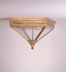 Elryan Flush Mount Light with Clear Seeded Glass