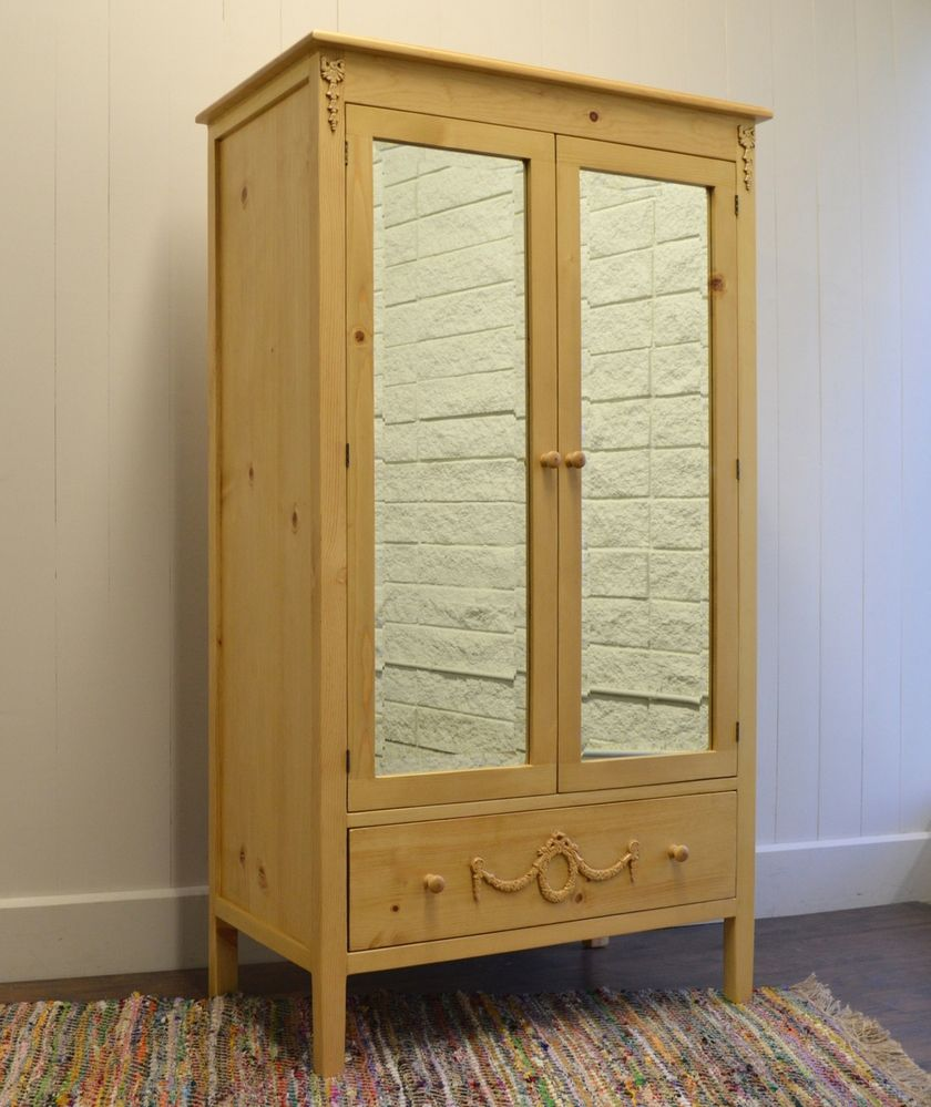 Emma's Coastal Mirrored Armoire for Sale - Cottage & Bungalow