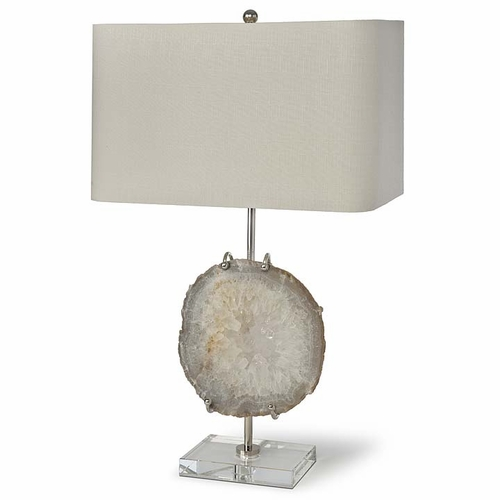 Exhibit Lamp with Nickel & Agate