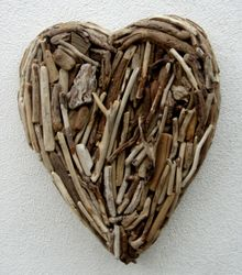 Extra Large Driftwood Heart