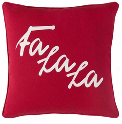 Fa La La Pillow Red