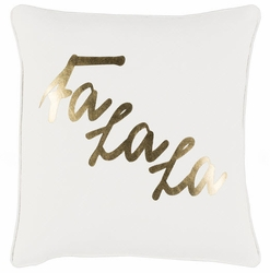Fa La La Pillow White
