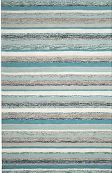 Fairfield Blue Hand Tufted Rug <font color=a8bb35> NEW</font>