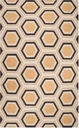 Fallon Camel, Dark Brown & Beige Flat Pile Rug