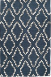 Fallon Marine Blue/Winter White Flat Pile Rug *Low Stock