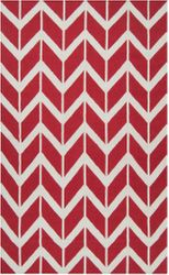 Fallon Venetian Red Chevron Flat Pile Rug *Low Stock