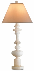 Farrington Alabaster Table Lamp<font color=a8bb35> NEW</font>