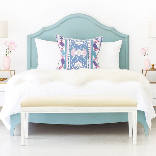 Fiona Wood Panel Bed Luxe