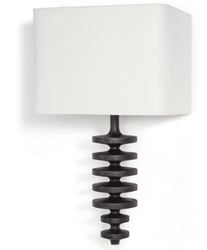Fishbone Ebony Sconce <font color=a8bb35>NEW</font>