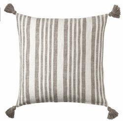 Flagstone Stripe Cotton Pillow