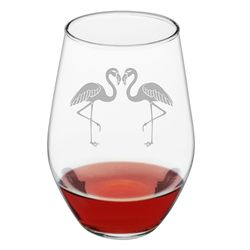 Flamingo Stemless Wine Glass - Set of 4 *NEW
