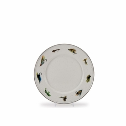 """Fly Fishing 8.5"""" Sandwich Plate Set of Four"""