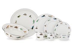 Fly Fishing Enamelware Dinner Collection