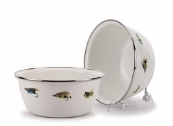 Fly Fishing Salad Bowl Set of Four