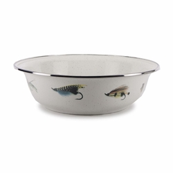 Fly Fishing Serving Bowl