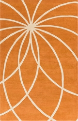 Forum Rug 100% Wool in Orange *Low Stock