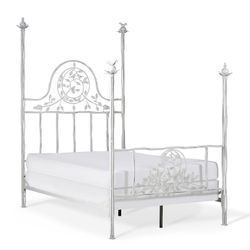 Four Post Twiggy Iron Bed
