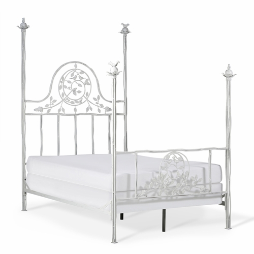 Four Post Twiggy Metal Bed