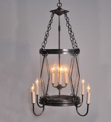 Foyer 8-Light Hanging Light Fixture with Diamond Accent <font color=a8bb25> Sold Out</font>