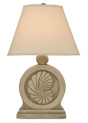 Framed Nautilus Shell Table Lamp